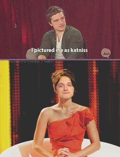 """I can't stop laughing! """"I pictured me as Katniss."""" Again I saw this and thought of Sarah..."""