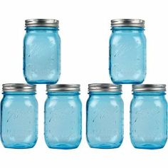 Celebrate the 100th anniversary of the perfect mason jar with these stunning turquoise Ball jars.