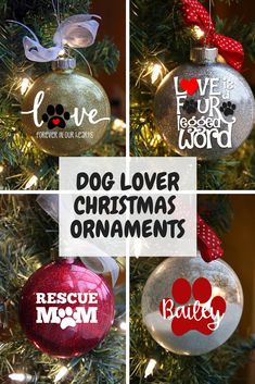 Variety of designs and colors available feature your dogs name on the back. Click through to see all of the options. Christmas Craft Fair, Christmas Crafts To Make, Dog Christmas Ornaments, Homemade Christmas, Christmas Projects, Holiday Crafts, Secret Santa, Easy, Dog Gifts