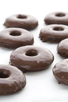 Low carb chocolate donuts made with coconut flour and dipped in a sugar-free chocolate glaze. My kids declared these to be the best keto donuts I have ever made!