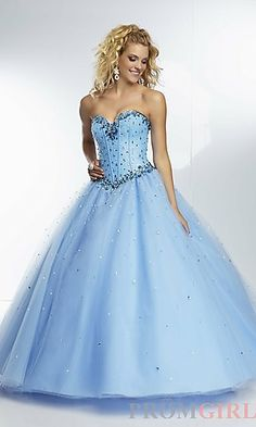 Long Strapless Ball Gown by Mori Lee at PromGirl.com