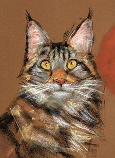 Modern Cat by #SSchukina #cats #CatArt