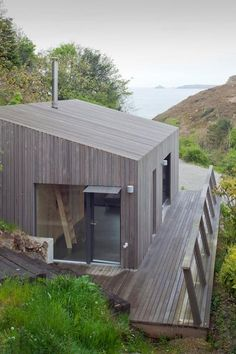 Best Ideas For Modern House Design : – Picture : – Description Ecospace España Architecture Durable, Architecture Design, Timber Cladding, Backyard Sheds, House In The Woods, Modern House Design, Building A House, Cottage, Houses