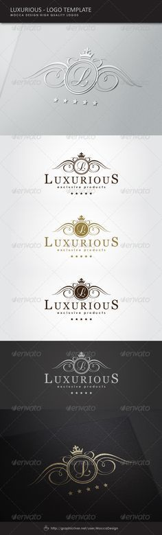 Luxurious Logo Template Vector EPS, AI Illustrator. Download here: https://graphicriver.net/item/luxurious-logo/5170308?ref=ksioks