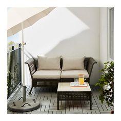 ÄPPLARÖ modular sofa, outdoor Brown/hållö beige 143 x 80 x 73 cm - IKEA Outdoor Cushion Covers, Outdoor Cushions, Outdoor Sofa, Chair Cushions, Black Outdoor Furniture, Outdoor Dining, Modul Sofa, Wood Supply, Balkon Design