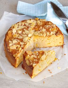Peach, Almond & Yoghurt Cake - You can use fresh peaches when they're in season, otherwise substitute apricots, apples or pears. http://fooddaily.com.au/recipes/17220/peach-almond-yoghurt-cake