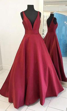 Sexy Prom Dresses,Burgundy Prom Dresses, Red Prom Dress, Long, Prom Dress 2017, Long Prom Dress, Red Evening Dress, Simple Prom Dress,Ball Gown Prom Dress
