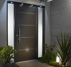 The True Story About Main Entrance Door Design Ideas That the Experts - nyamanhome Main Entrance Door Design, Front Door Design, House Entrance, Entrance Doors, Modern Exterior Doors, Exterior Front Doors, House Front Door, House Doors, Custom Wood Doors