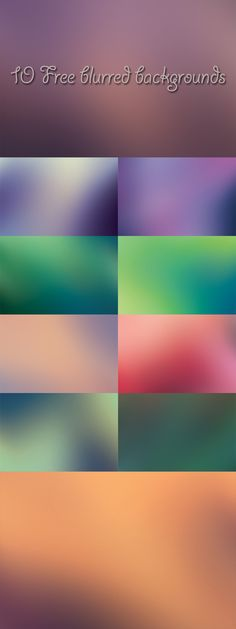 10 Free Blurred High Quality Backgrounds - tons of web design resources (backgrounds, icons, etc.)