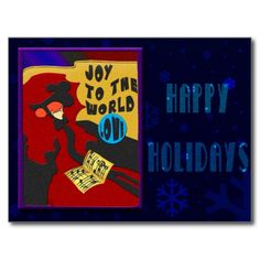 Christmas Toulouse Postcards - Say Happy Holidays in style with this unique Toulouse Lautrec inspired design by Leslie Sigal Javorek. Customizable text on flip side. See more Christmas Cards & Postcards @ www.zazzle.com/icondoit/christmas+gifts?rf=238155573613991097&tc=pnt #toulouslautreccards #toulouslautrecchristmas #christmaspostcards