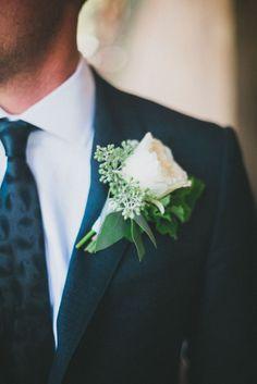 Peony boutonniere: http://www.stylemepretty.com/california-weddings/san-luis-obispo/2014/06/06/thoughtful-rustic-diy-wedding/ | Photography: Studio Castillero - http://studiocastillero.com/