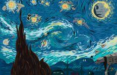 Starry Night Star Wars Kunstdruck von newbpainter auf Etsy