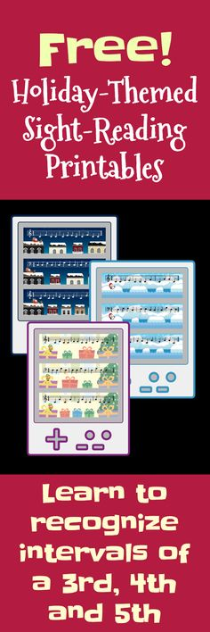 This downloadable mini-pack of sight-reading activities is super fun and will have your piano kids recognizing intervals at sight. The sight-reading skills teachers appreciate... the video-game theme that kids love... plus... It's Christmas-themed!