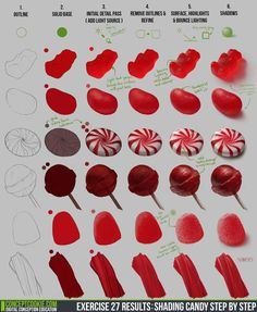 TheFull ResultsUpdate and Brush Download HEREby:Tim Von Rueden (vonn) This exercise was a truly sweet! Below is a step by step on how I created each of the gemstones from the exer...