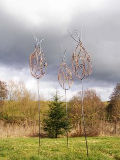Sculpture and garden art , artistic metal furniture and gates - Garden Art Gallery  David Freedman artist.