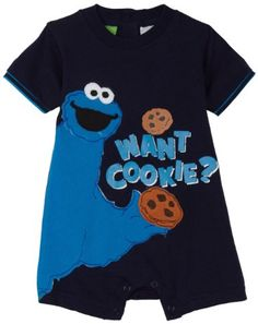 Cookie Monster Romper-- have to have, Jon would just die.