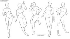 Female poses 2 by Sellenin