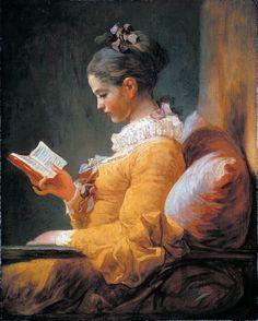 Jean-Honore Fragonard A young girl reading