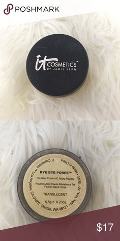 It cosmetics translucent powder This is the it cosmetics bye bye pores translucent powder only used twice. Like new! IT cosmetics  Makeup Face Powder