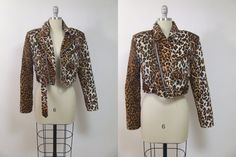 Rare and in new condition leopard motorcycle crop jacket. Has a unique zipper and multiple pockets on front. Has a waist belt. Real leather. This is a veru high quality jacket un mint condition! No stains or holes. MEASUREMENTS (all were taken while laying flat - need to be doubled):  B R A N D: L.A. Roxx B U S T : 17.6 / 44 cm approx W A I S T: 17.2 / 43 cm approx L E N G T H : 16.8 / 42 cm approx F A B R I C : leather, cotton  Visit us on Facebook so youll get to know us :-)…