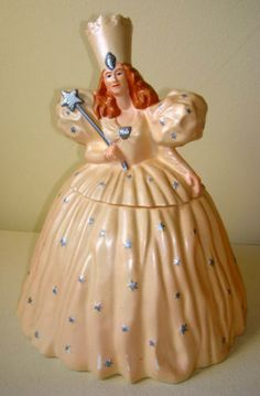 Glenda the Good Witch from Wizard of Oz Cookie Jar Teapot Cookies, Biscuit Cookies, Glenda The Good Witch, Antique Cookie Jars, Disney Cookies, Cookie Time, Vintage Cookies, Cookie Crumbs, Cute Cookies
