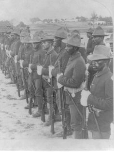 "Buffalo Soldiers who participated in the Spanish American War. Buffalo Soliders were formed on September at Fort Levenworth, Kansas. This all negro calvary was given the name ""Buffalo Soldier"" by native american indians whom they fought. Black History Facts, African American History, World History, Slavery History, British History, History Books, The Spanish American War, American Civil War, Spanish War"