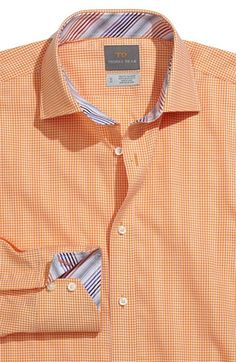 Thomas Dean Mini Houndstooth Sport Shirt