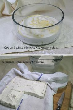 Vegan Feta Recipe: First a fermentation, then the cheese is set with agar agar