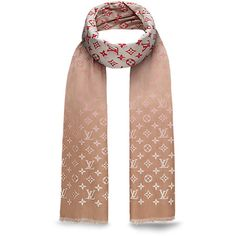 Monogram Sunrise Stole ($575) ❤ liked on Polyvore featuring accessories, scarves, monogrammed scarves, patterned scarves, cotton scarves, print scarves and lightweight scarves