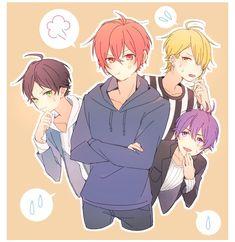 Urata, Aho no Sakata, Senra and Shima Cool Anime Guys, Cute Anime Boy, I Love Anime, Vocaloid, Anime Boy Hair, Nichijou, Cute Anime Chibi, Anime People, Pokemon