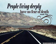 Anais Nin Living Quote