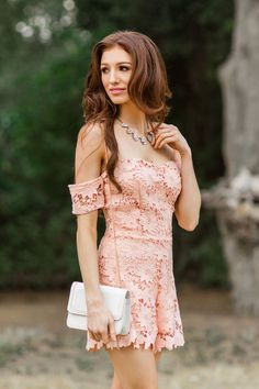 Lace Off the Shoulder Romper, Lace Rompers, Rompers for Women, Spring Outfit Ideas, Date Night Outfit Ideas
