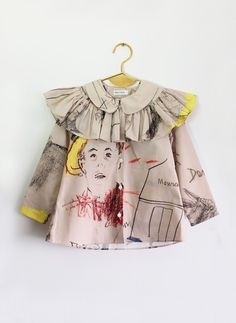 Wolf and Rita Blouse Alzira in Face Print – Hello Alyss - Designer Children's Fashion Boutique