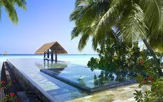 Curtir uma piscina dentro de outra piscina com a água azul-turquesa das Maldivas – One & Only Reethi Rah, Maldivas (oneandonlyresorts.com)