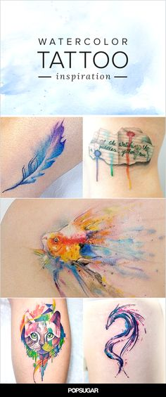 Exemples de tattoo watercolor.