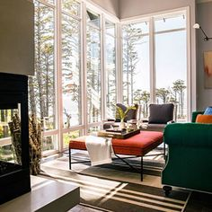Living area at the Sunset Idea House, Seabrook WA