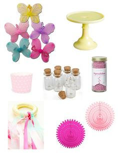 Fairy Party Ideas - like the little bottles you could add fairy dust and give each party guest one for sprinkling.  Might be a good idea for outside party.