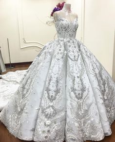 Happy Wedding once again for my lovely Client..Ivana...- Customade big Ballgown with mix lace #silver & #offwhite #silverdust #lace #dentelle #full #crystal #swarovski #transparant #silver #ab #beads . #meltatan #bride #today #theday #weddingday #angola #luanda #africa #lovely #client #handmade #embroidery #finishing #intricate #renda #mix #gelinlik #brides