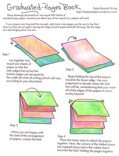 How to Make a Graduated Pages Book  by Paula Beardell Krieg