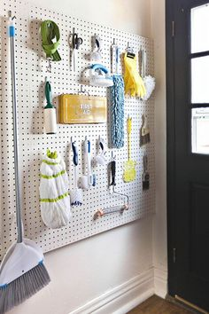 The laundry room can be an organizational minefield — but it doesn't have to be. We love how A Beautiful Mess blogger Elsie updated her laundry room with this colorful, easy-access pegboard. It's an ideal way to keep all of your miscellaneous supplies close-at-hand. MORE DIY: Lena Dunham Shares An Easy DIY For Your Bedroom - HouseBeautiful.com