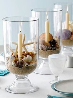 Seashell table decor