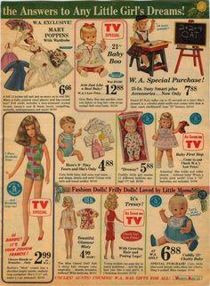 1966 PAPER AD Horsman Doll Mary Poppins Francie Ideal Misty Tressy Mattel Drowsy