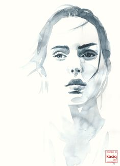 Portrait Drawing 20151222 watercolor on paper Watercolor Portrait Painting, Watercolor Face, Watercolor Landscape, Abstract Watercolor, Portrait Art, Painting & Drawing, Watercolor Trees, Simple Watercolor, Tattoo Watercolor