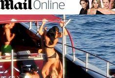 Mergulhos em alto-mar, banhos de sol, música e danças sensuais, com o craque português rodeado de mulheres, muitas mulheres
