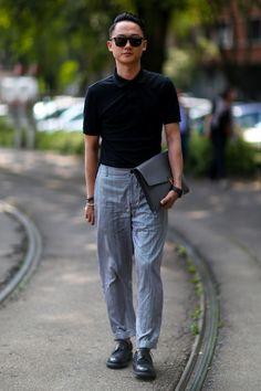Dżins, jeans - trendy wiosna-lato 2015, galeria street fashion, fot. Imaxtree