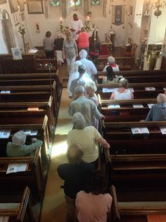 Lining up for the Eucharist