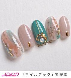 heart wedding nails in 2020 Korean Nail Art, Korean Nails, Japanese Nail Design, Japanese Nail Art, Asian Nails, Cute Pink Nails, Elegant Nail Art, Bridal Nail Art, Kawaii Nails