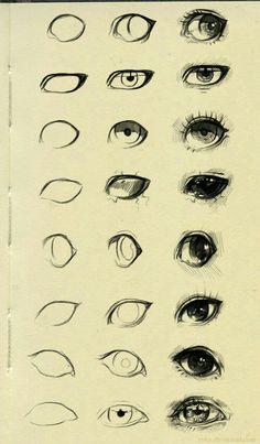 #como hacer ojos anime #dibujo anime #anime