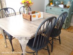 DIY white washed table - I might try this!