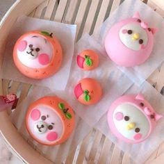 Japanese Snacks, Japanese Sweets, Cute Desserts, Asian Desserts, Biscuit Cinnamon Rolls, Tenten Y Neji, Cute Bento Boxes, Bun Cake, Mochi Ice Cream